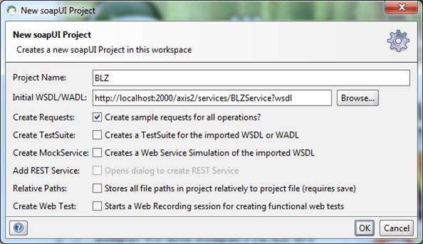 New soapUI Project for BLZ Service