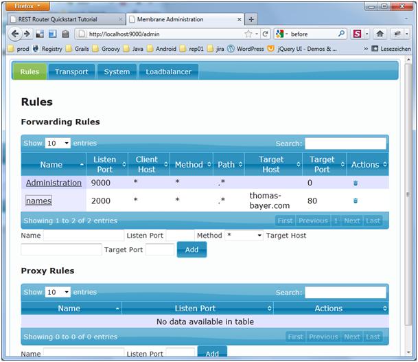 REST Router Quickstart Tutorial